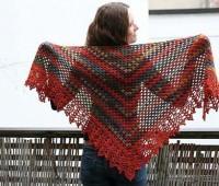 Patron gratis para hacer un chal triangular a crochet