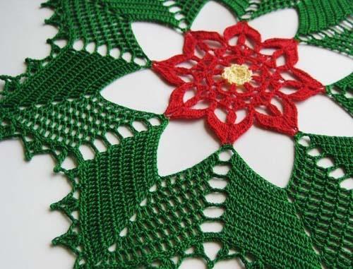 Patron mantel navideño tejido a crochet03