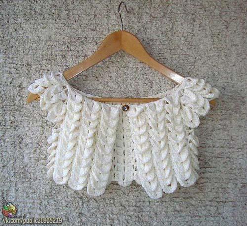 Patron para hacer un bolero a crochet para dama03