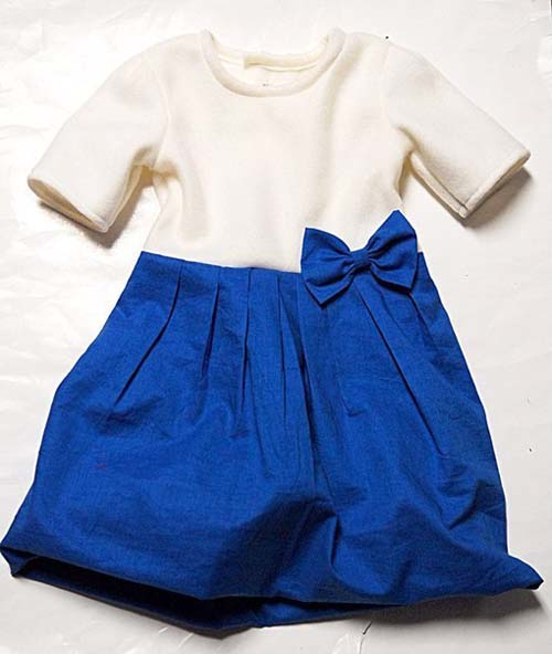 Patron para hacer un vestido con moño para niña03