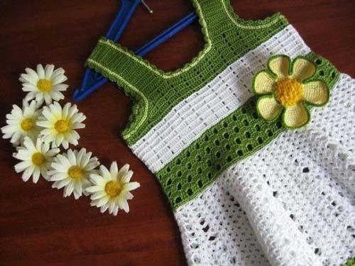 Patron para hacer un vestido de dos colores a crochet07