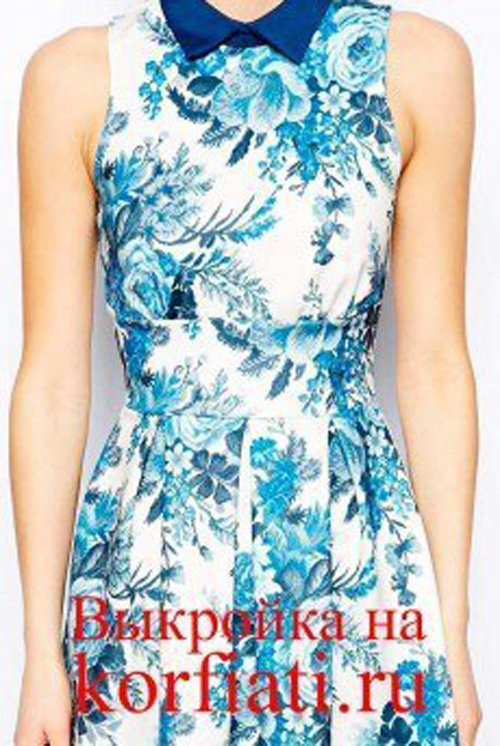 Patron para hacer un vestido juvenil de cuello camisero06