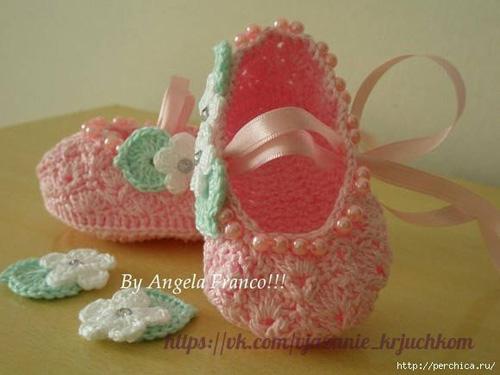 Patron para hacer zapatitos para bebes01