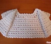 Patron para tejer un bolero para niña a crochet