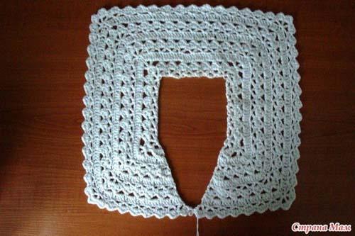 Patron para tejer un bolero para niña a crochet07
