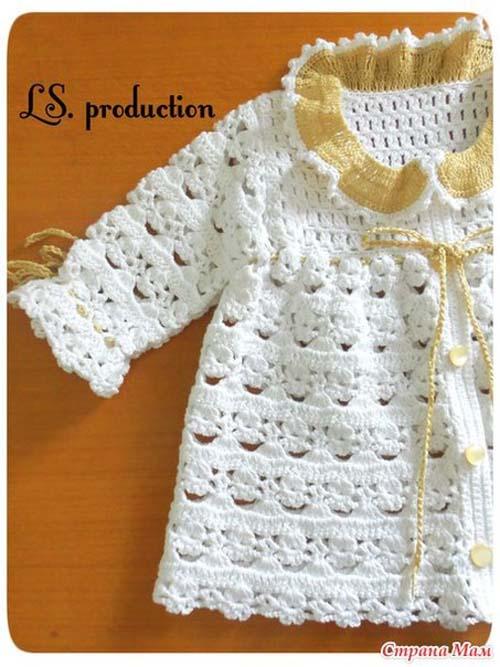 Patron para tejer una chambrita a crochet para bebe04