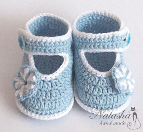 Patron para tejer zapatitos para bebes a crochet02