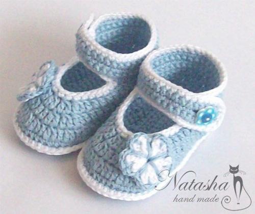 Patron para tejer zapatitos para bebes a crochet04