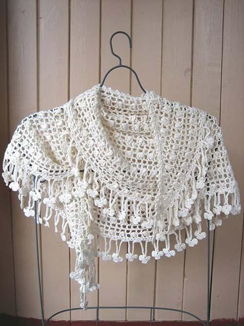 Patrones para tejer un chal a crochet