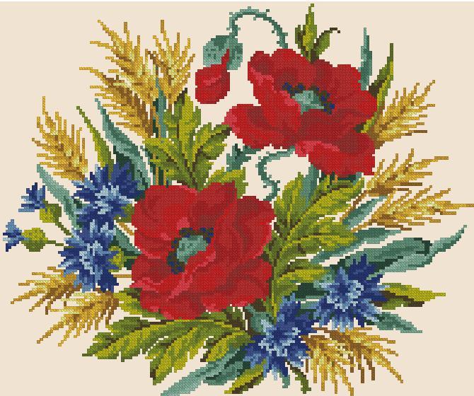 flores en punto de cruz (2)