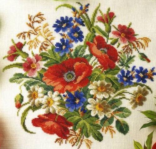 flores en punto de cruz (4)