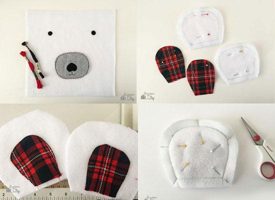 fundas de almohadas con forma de oso