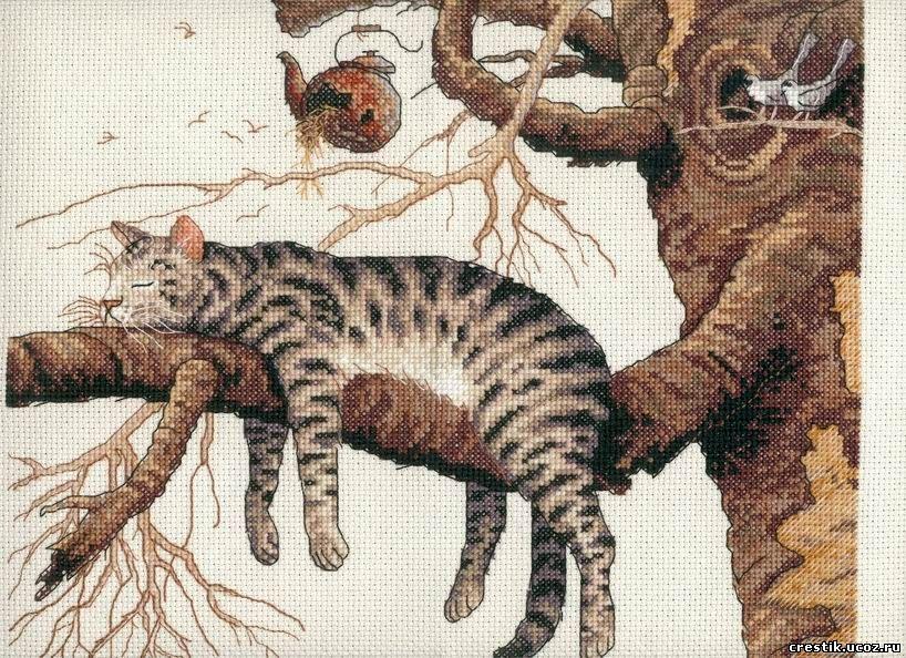 gatos en punto de cruz04