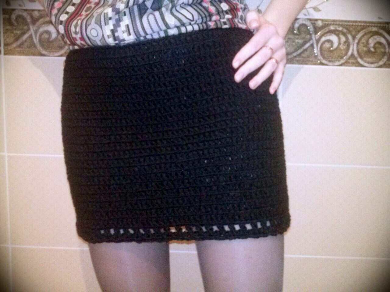 Patrones para hacer faldas tejidas a crochet