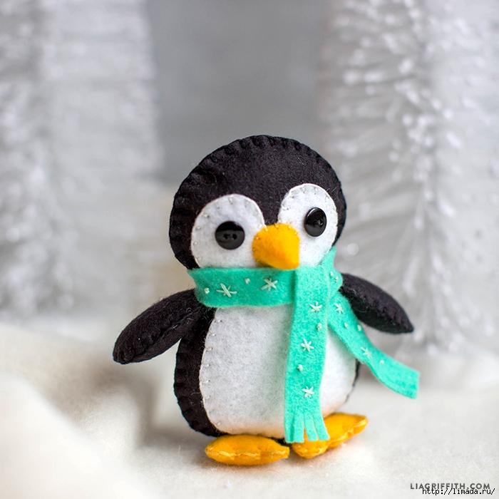pinguinos navideños de fieltro01