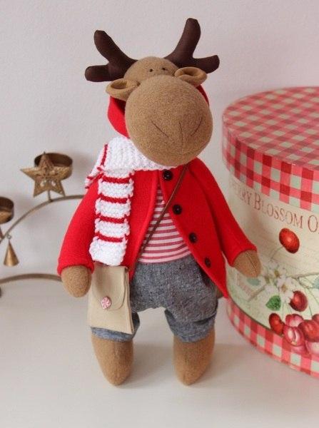 como hacer renos navide os de fieltro con moldes On manualidades renos navideños