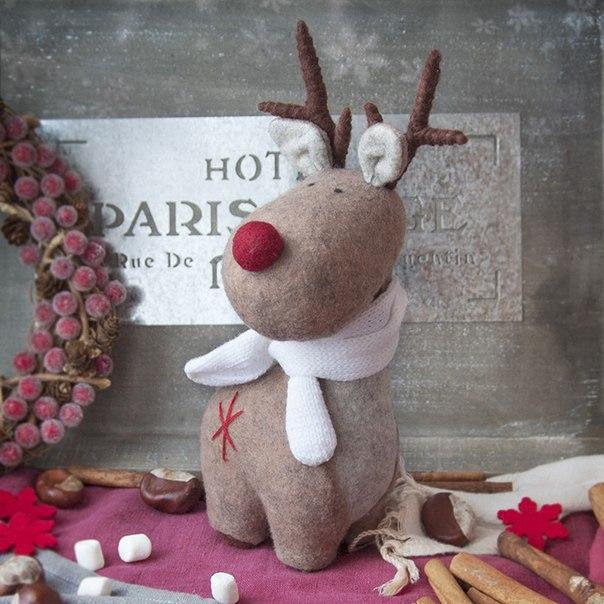 como hacer renos navide os de fieltro con moldes