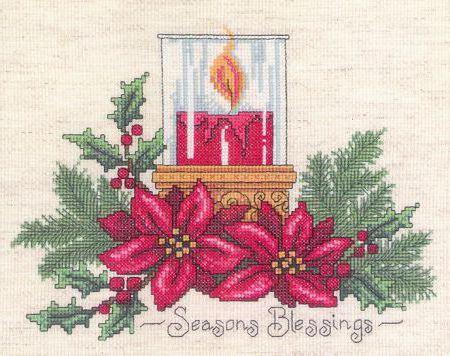 velas navideñas en punto de cruz (3)