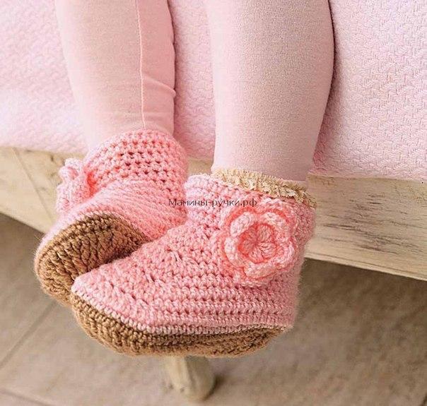 Como hacer botines a crochet para bebes03
