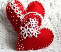 Como hacer corazones de fieltro paso a paso
