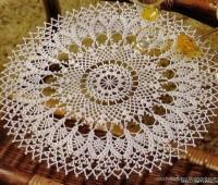Como hacer manteles redondos tejidos a crochet