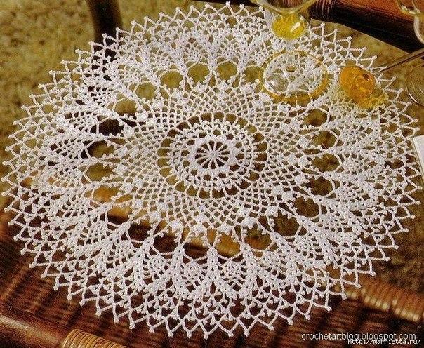 Como hacer manteles redondos tejidos a crochet02