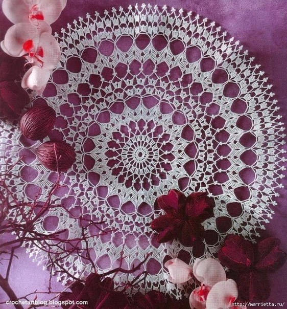 Como hacer manteles redondos tejidos a crochet05