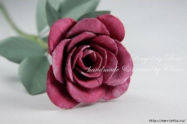 Como hacer rosas con carton de huevos02