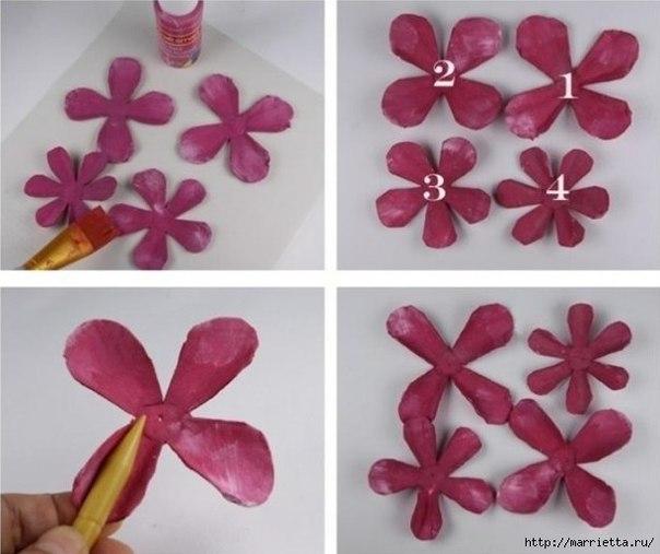 Como hacer rosas con carton de huevos04