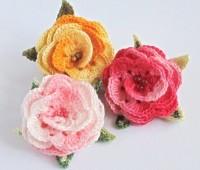 Como hacer rosas tejidos a crochet