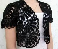 Como hacer un bolero tejido a crochet para dama