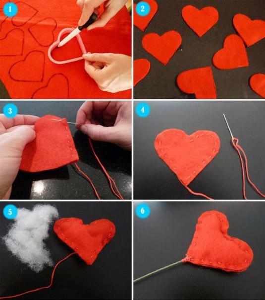 Como hacer un ramo de corazones de fieltro04