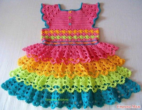 Como hacer un vestido con olanes a crochet01