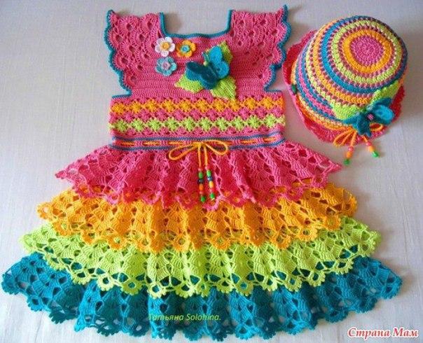 Como hacer un vestido con olanes a crochet09