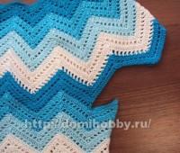 Como hacer una blusa con punto zig zag a crochet
