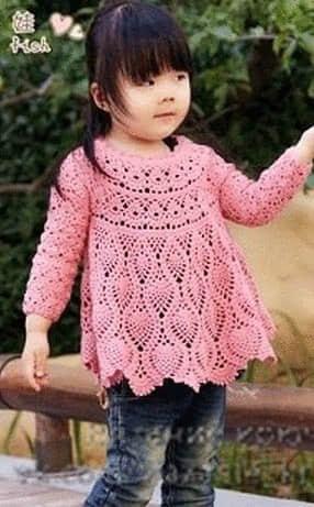 Como hacer una blusa olgado a crochet para niñas05