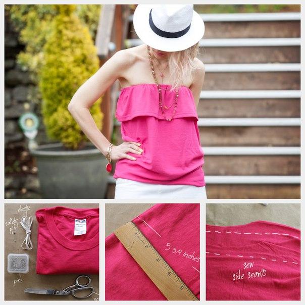 Como hacer una blusa strapless paso a paso06