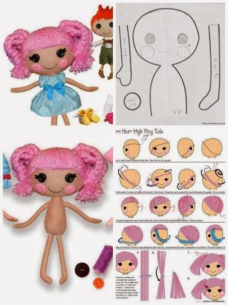 Como hacer una muñeca lala loopsy de fieltro09
