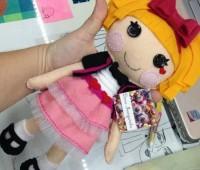Como hacer una muñeca lala loopsy de fieltro