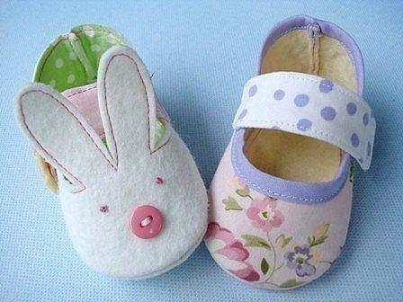 Como hacer zapatitos de fieltro para bebe02