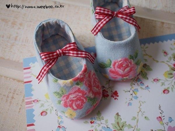 Como hacer zapatitos de tela para bebes01