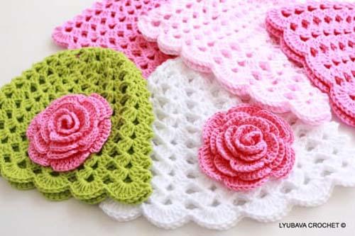 Como tejer gorros a crochet para niños08