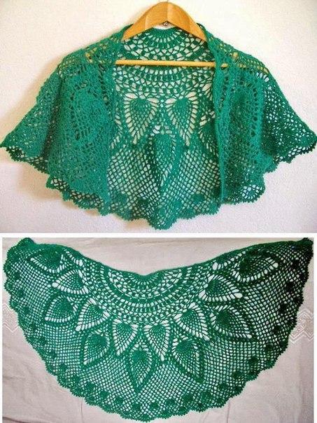 Como tejer un chal medio circulo a crochet02