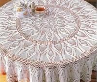 Como tejer un mantel circular a crochet