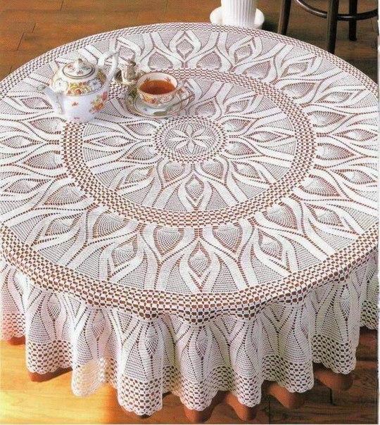 Como tejer un mantel circular a crochet01