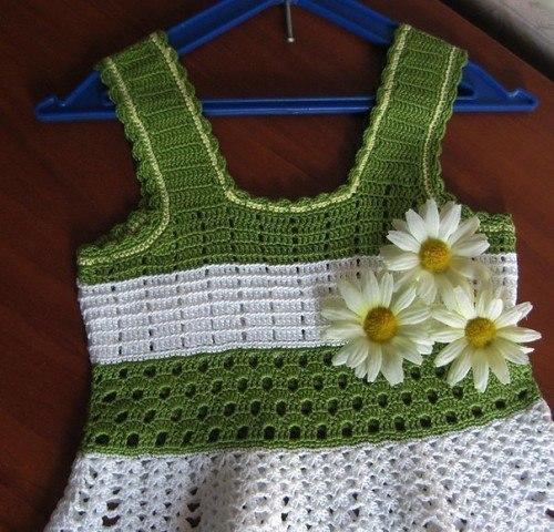 Como tejer un vestido a crochet para niñas01