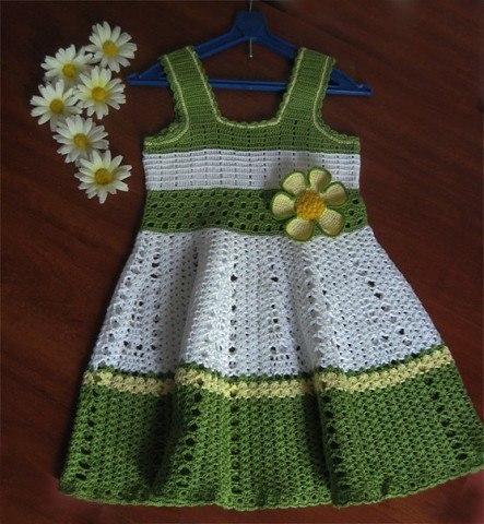 Como tejer un vestido a crochet para niñas06