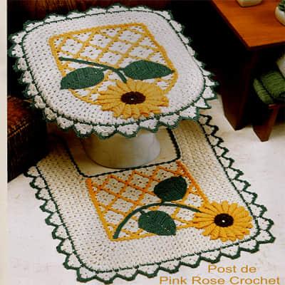 Conjunto de baño tejido a crochet01