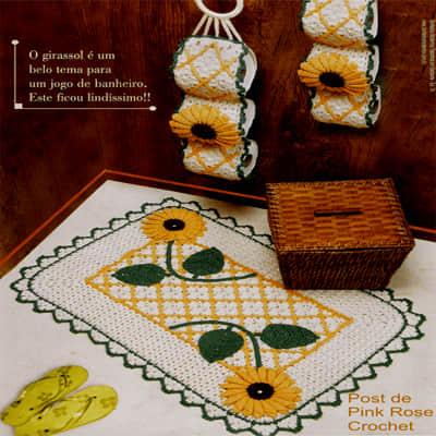 Conjunto de baño tejido a crochet07