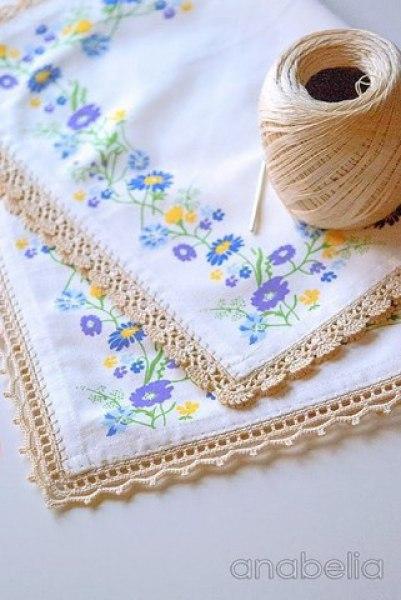 Puntillas a crochet para servilletas y manteles